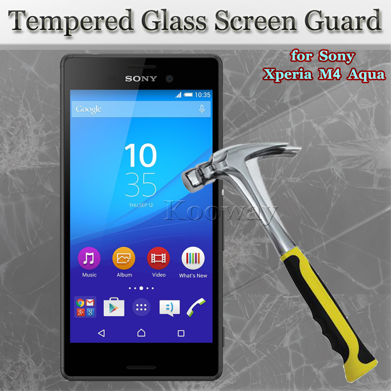 50PCS Front+50PCS Back Tempered Glass LCD Guard+Dust Sticker+Alcohol Pad for Sony Xperia M4 Aqua E2303 E2353 E2333, with Package(China (Mainland))