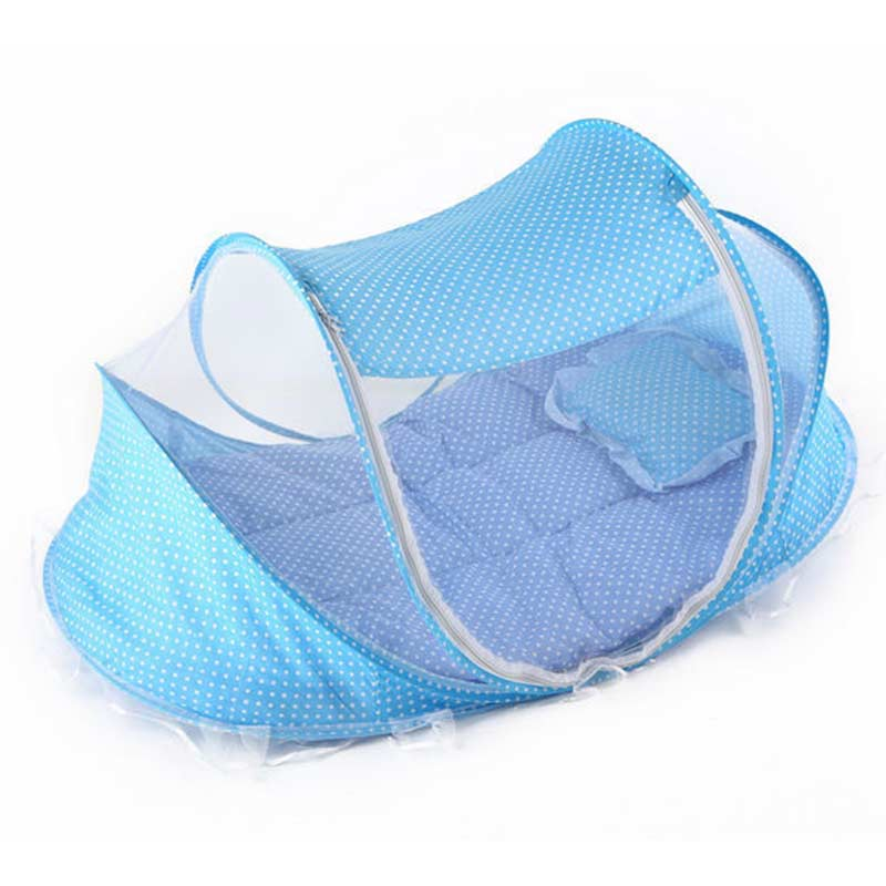 Foldable New Baby Crib 0-2 Years Baby Bed With Pillow Mat Set Portable Crib With Mosquito Netting Newborn Sleep Travel Bed