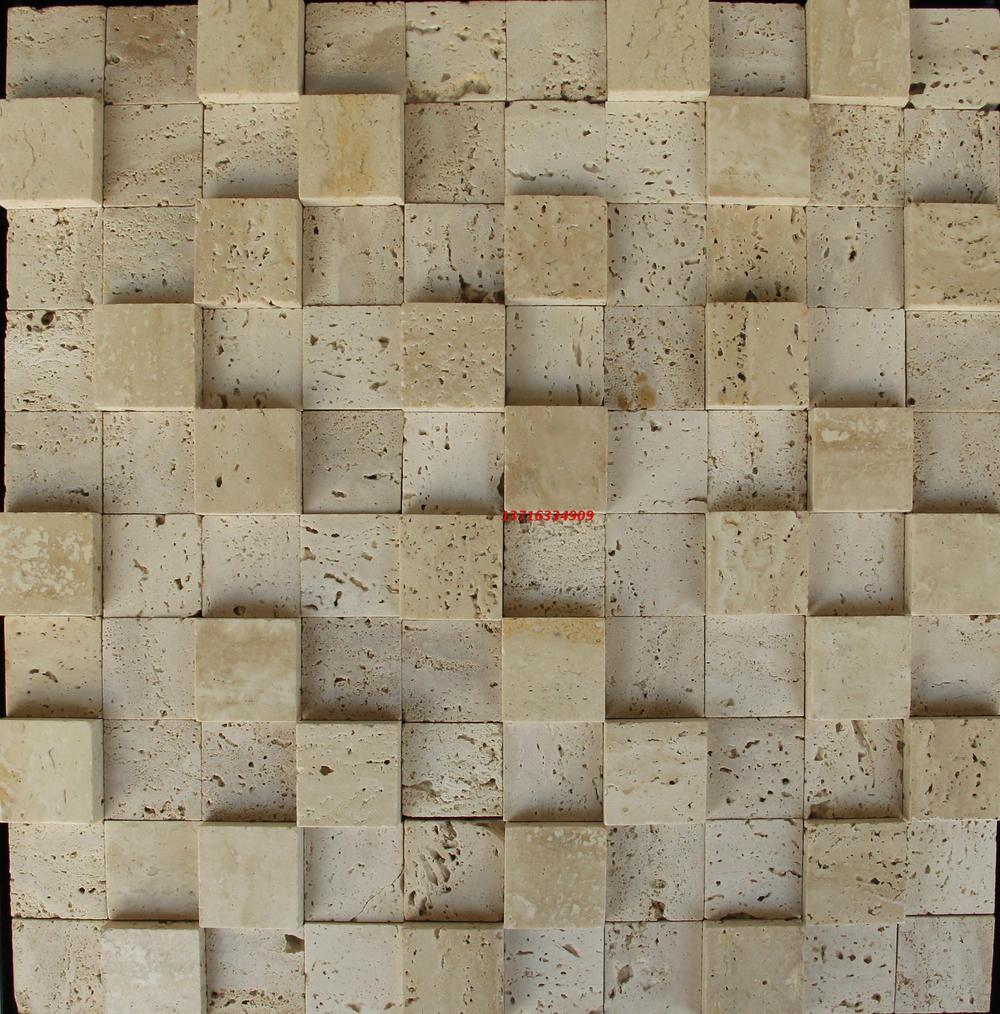 Гаджет  Natural beige travertine stone mosaic tile bump height spell stone building materials decoration TV backdrop culture None Строительство и Недвижимость