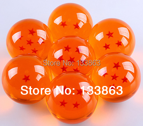 Super Big 7CM  Japanese Animation Dragon Ball 7 Stars Crystal Ball set of 7 pcs new in box High Qutaily , free shipping<br><br>Aliexpress