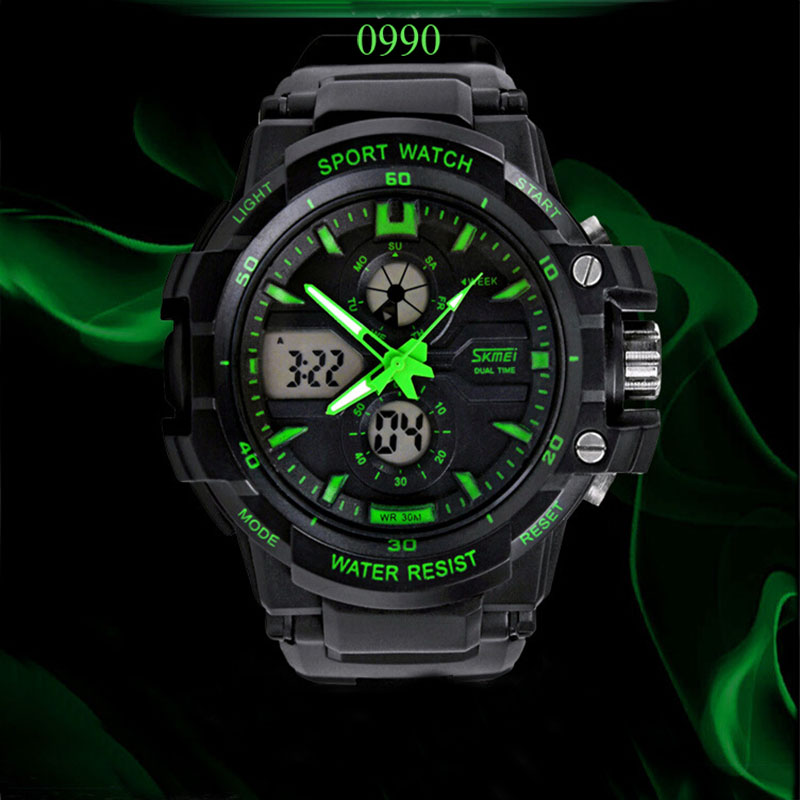 Гаджет  Skmei 0990 military sport watches men luxury brand LED Digital  watch men quartz waterproof relogio masculino None Ювелирные изделия и часы