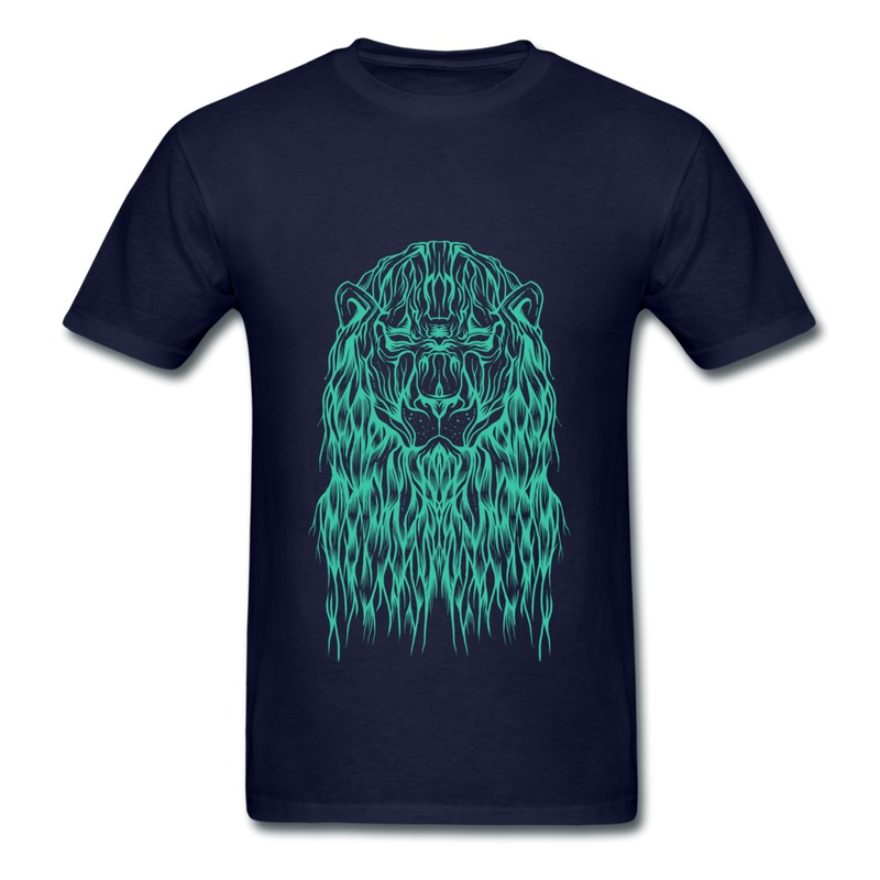 2014 Fashion Style Cotton Mens Tee Shirt Cool Animal