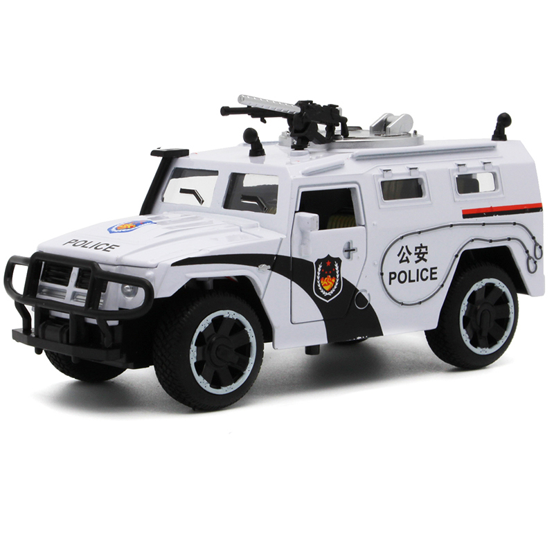 Sheriff's Chariots Oyuncak Araba 1:32 5Doors can be Opened's Diecast Metal Car Boy Acousto-optic Police Car Model Alloy Car Toy(China (Mainland))