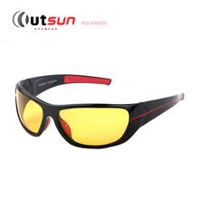 OUTSUN New 2016 Mens Polarized Night Driving Sunglasses Brand Yellow Lense Night Vision Driving Glasses Goggles Reduce Glare(China (Mainland))