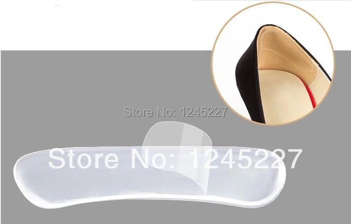 silicon gel insoles high heel protectors jelly sticker grip pad inserts high silicone stickerfoot care dropship liner for shoes(China (Mainland))