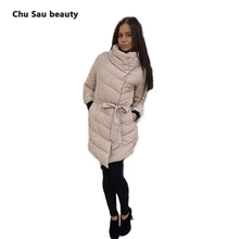 winter jacket women thick long sleeve 1950s 60s long style parkas for women winter fashion Irregular with blet veste femme