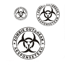 Zomble Outbreak Car Stickers Car Reflective Decal 12 x 12 cm for Toyota Ford Chevrolet Volkswagen
