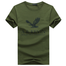 Buy New Pure cotton Short brand T Shirt Men's large size T Shirt Slim Fit Fashion Eagle Printed t-shirt men plus Size S -5XL for $4.33 in AliExpress store