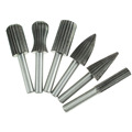 NEWACALOX 6pcs Woodworking Wood Drill Bit Set High speed Milling Cutter Carving Tools Dremel HSS Rotary