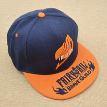 Hot Anime FAIRY TAIL Cosplay Baseball Hat Men Women Cartoon Embroidery Pattern Strapback Baseball Cap Kpop Hat Brim Adjustable(China (Mainland))