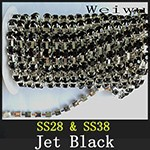 Rhinestone Chain Jet Black xzs005