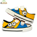 JUP 7 Styles Cartoon Low Magic Despicable Me Minion Spongebob Puppies Fox Children Baby Hand Painted