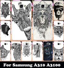 """Buy Hard Plastic Soft TPU Silicon Phone Case Samsung Galaxy A3 2016 SM-A310 A310 A3100 A310F 4.7"""" Leopard Deer Protective Cases for $1.66 in AliExpress store"""