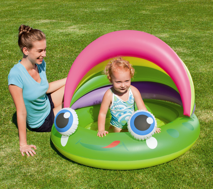 bestway frog baby swimming pool inflatable pool kid's piscina,109*104*76CM include repair patch,free shipping(China (Mainland))