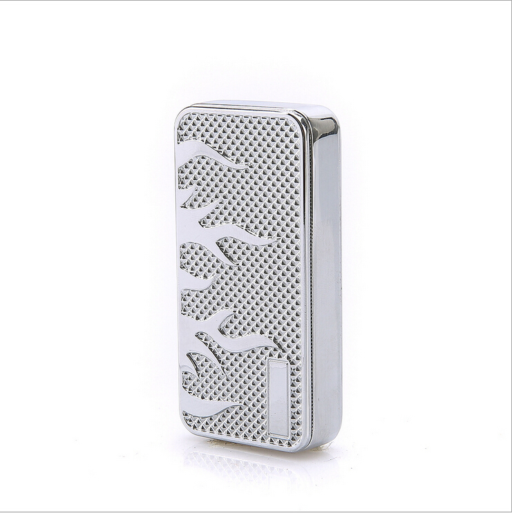 New 23 Style Lighters Windproof Ultra thin Metal Pulse Charge USB Lighter Electronic Cigarette Lighter for