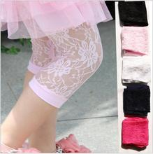 2016 Summer Children All-match Pants Leggings Baby Girl Cotton Thin Leggings Girls Lace Capris Pants Kids Clothes 4 Color
