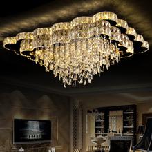 Living room lights rectangle crystal lamp font b led b font font b ceiling b font