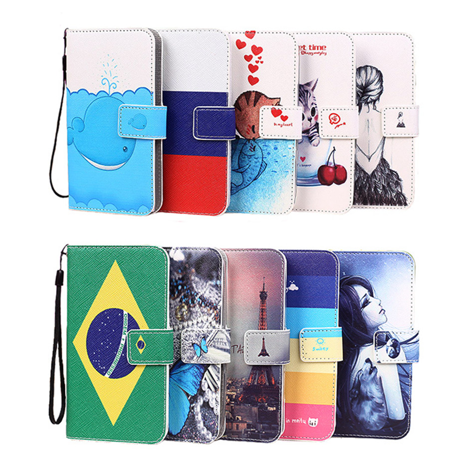 New Colorful PU Leather Case for Lenovo P770 Eiffel Tower Butterfly Kitty Girl Brazil Russian Flag Pattern Phone Cover + Lanyard(China (Mainland))