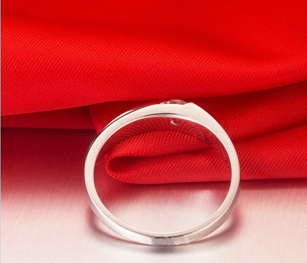 Shop price Sterling Jewelry Free Shipping 0.25ct Princess Cut Synthetic Jewelry 925 Sterling Ring For Men 18k Plated Wedding(China (Mainland))