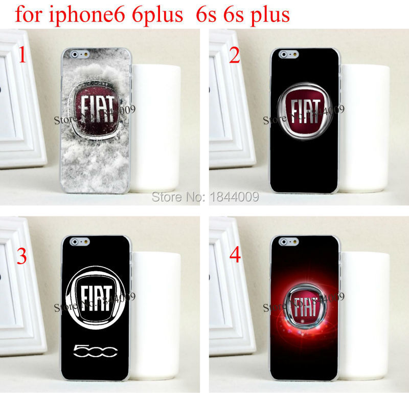 FIAT car logo Style Hard Skin Transparent Cover Case for iphone6 6s and iphone6 plus 6s plus(China (Mainland))