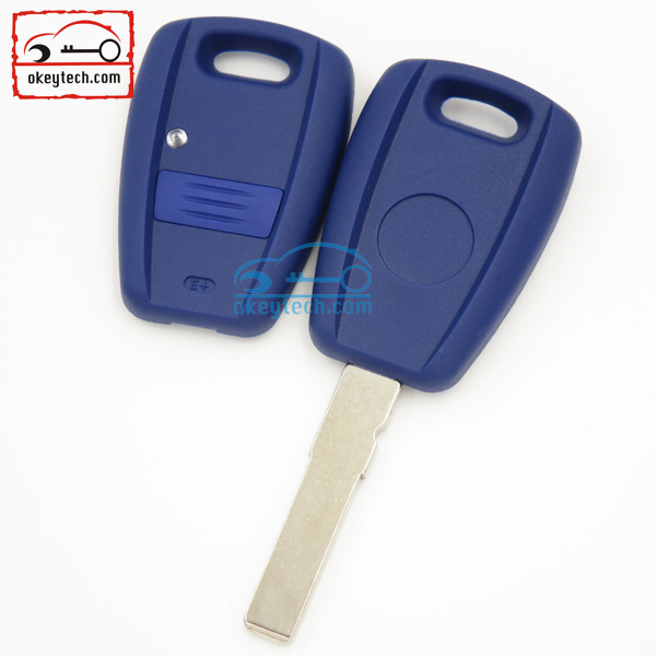 30Pcs/lot Fiat remote 1 buttons key shell Fiat Stilo Punto Seicent car key With GT15R blade key Blue cover fob Fiat remote key(China (Mainland))