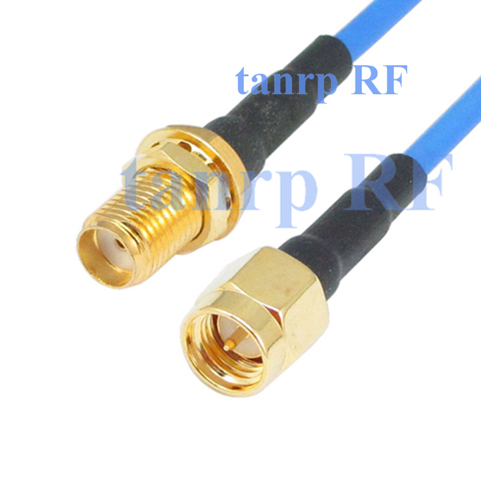20in SMA male plug to SMA female RF 3G 4G router WIFI 50CM coaxial Sexi Flexible blue jacket jumper extension cable RG405<br><br>Aliexpress