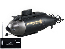 777-216 6-Channel 49MHz Radio Control Vertical Diving Floating RC Submarine (Black)(China (Mainland))