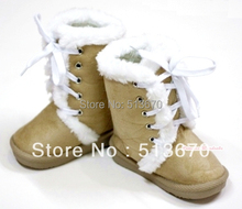 Winter Snow Adorable Casual Toddler Girl Brown khaki Suede Shoes Boots Mid Calf MASB24(Hong Kong)
