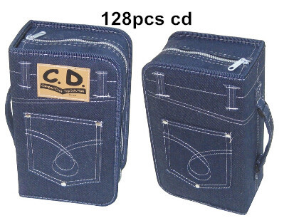 capacity 128 pieces Denim CD DVd Storage bag , Carry Bag Cd Case Package - the flysky store