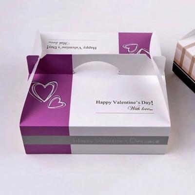 20.5x20.5x6.5cm purple 8 inch cheese cake box food packing portable bread pizza sushi hamburger box 100pcs/lot(China (Mainland))