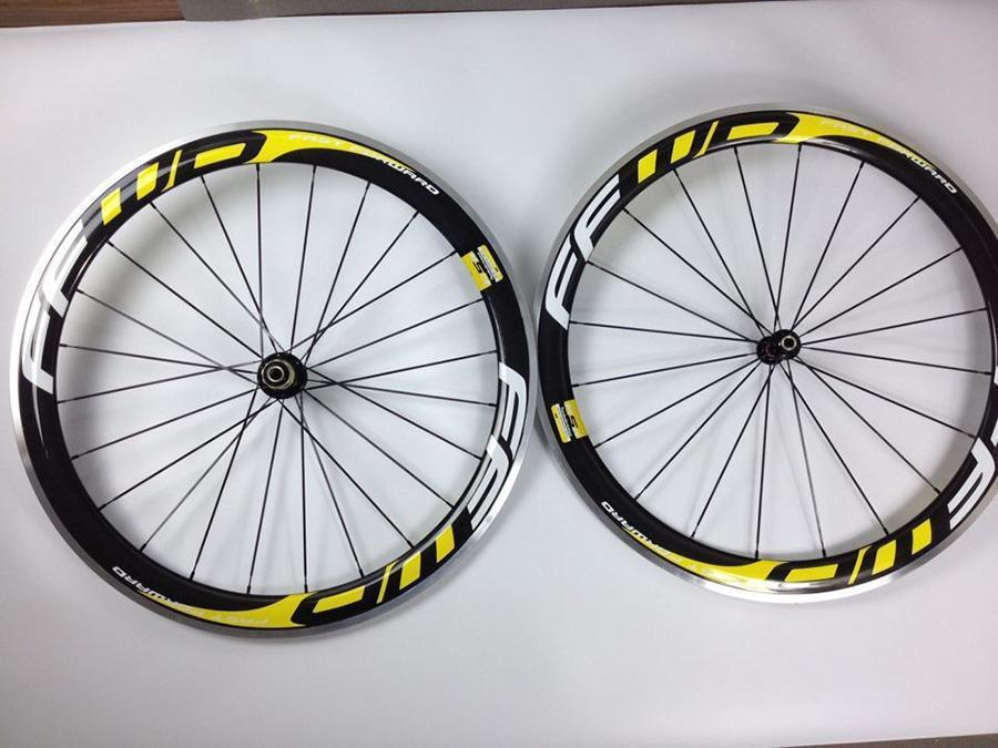 yellow ffwd f5r carbon wheels 50mm road bike wheelset alloy brake surface 23mm cycling wheel bicycle parts(China (Mainland))