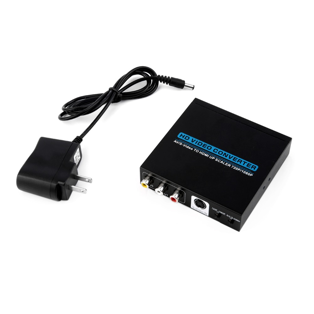 New 720p/1080P AV/S-Video to HDMI Up Scaler HD Converter Adapter for HDTV(China (Mainland))