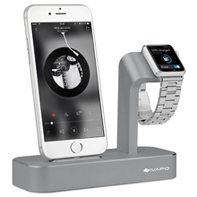 iVAPO 2 in 1 Charging Dock For Apple Watch Desk Holder Stand Solid Aluminum Charger Station For Apple Watch iPhone 6 6s plus(China (Mainland))
