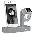 iVAPO 2 in 1 Charging Dock For Apple Watch Charger Stand Solid Aluminum Desktop Holder Stand