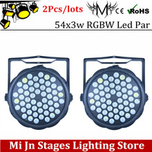Buy 2pcs/lots 54X3W RGBW led Par Light LED PAR R12 G18 B18 W6 DMX512 controller led lights, disco lights DJ equipment for $71.50 in AliExpress store