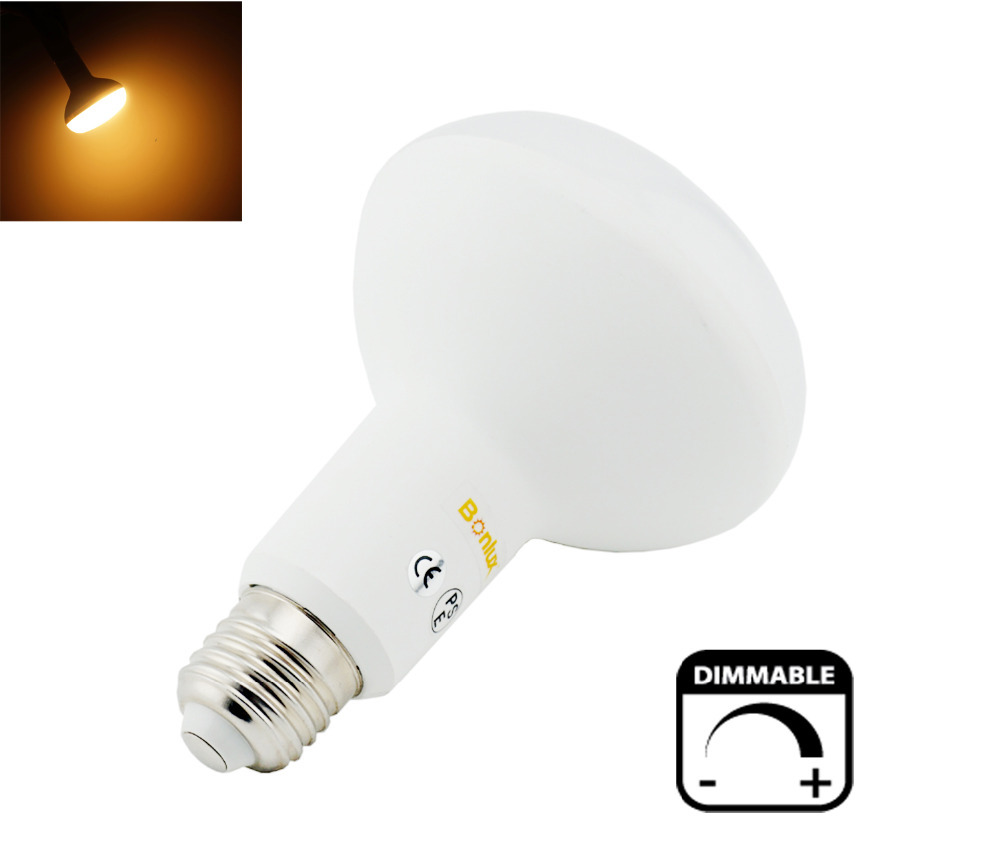 15W E26 E27 BR30 R95 Dimmable LED Light AC85-265V R95 Mushroom Umbrella Bulb Lamp with 75-100w Halogen Lighting Equivalent(China (Mainland))