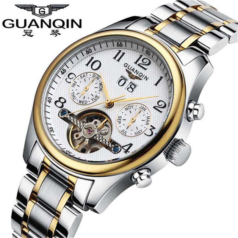 Relogio masculino Guanqin fashion watches men luxury brand clock military tourbillon automatic mechanical watch reloj wristwatch<br><br>Aliexpress