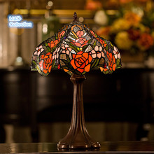 M&D TF-003 European Style Fashion Home decoration 8 inch height Stained  Art Glass Tiffany Lamp Table light(China (Mainland))