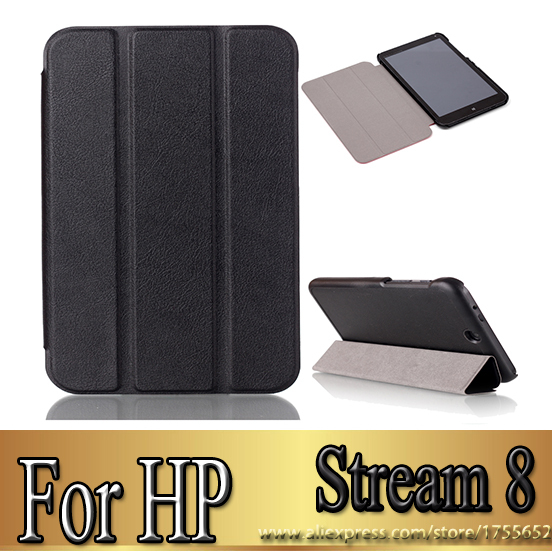 Best seller creative smart slim luxury pu leather smart folio cover case for HP TouchPad hp stream 8 8 inch tablet LC1298(China (Mainland))