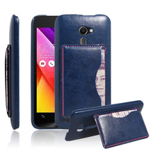 Asus Zenfone 2 ZE500CL 5.0 inch Phone Bag Luxury PU Leather Wallet Case Stand Card Holder Flip Cover FC-K - WWW Center Store store