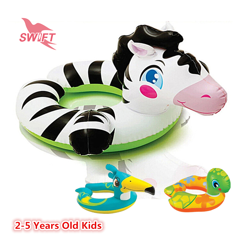3 Cartoon Animal Models Baby Inflatable Float Seat Boat 2015 Summer Health PVC 2-5 Years Old Kids Pool Toys INTEX 59220(China (Mainland))