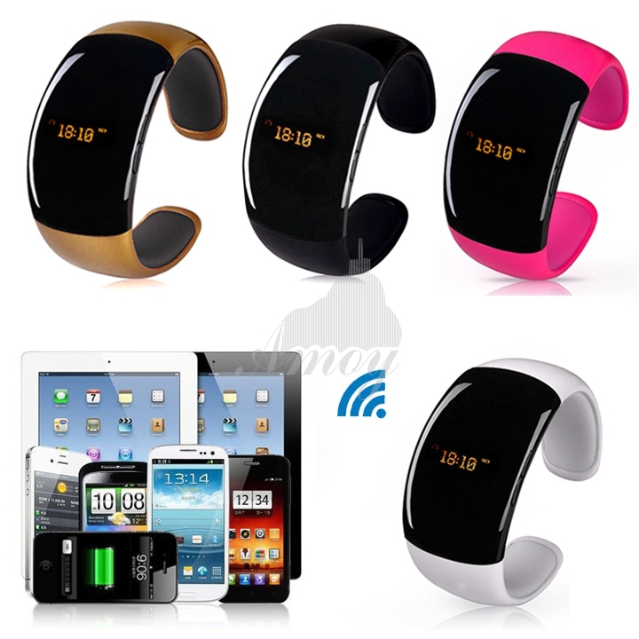 New Bluetooth Bracelet Watch caller ID display anti-lose answer hang up call music player For Smart Phone smartwatch B6 SV004302(China (Mainland))