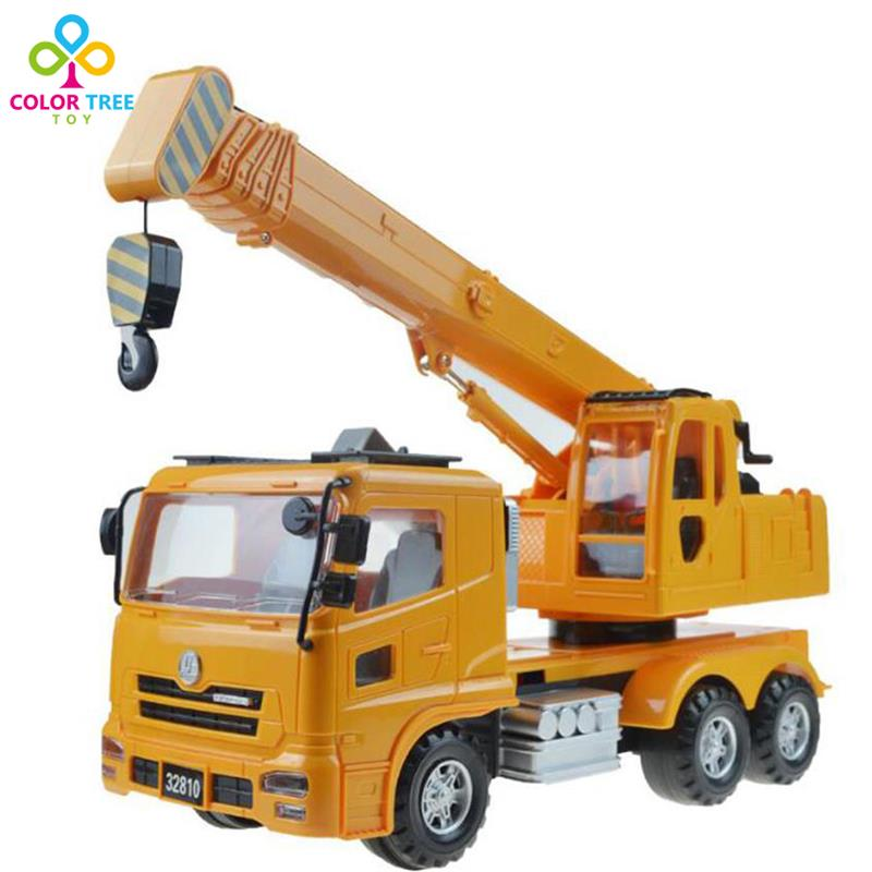 Kids Toy Vehicles Large Size Cranes Inertial Hoist Boys Engineering Vehicles Toy Car Rotatable Xmas Gifts For Children(China (Mainland))