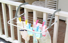 Folding Laundry Cloth Hanger Home Heater Rail Storage Rack(China (Mainland))