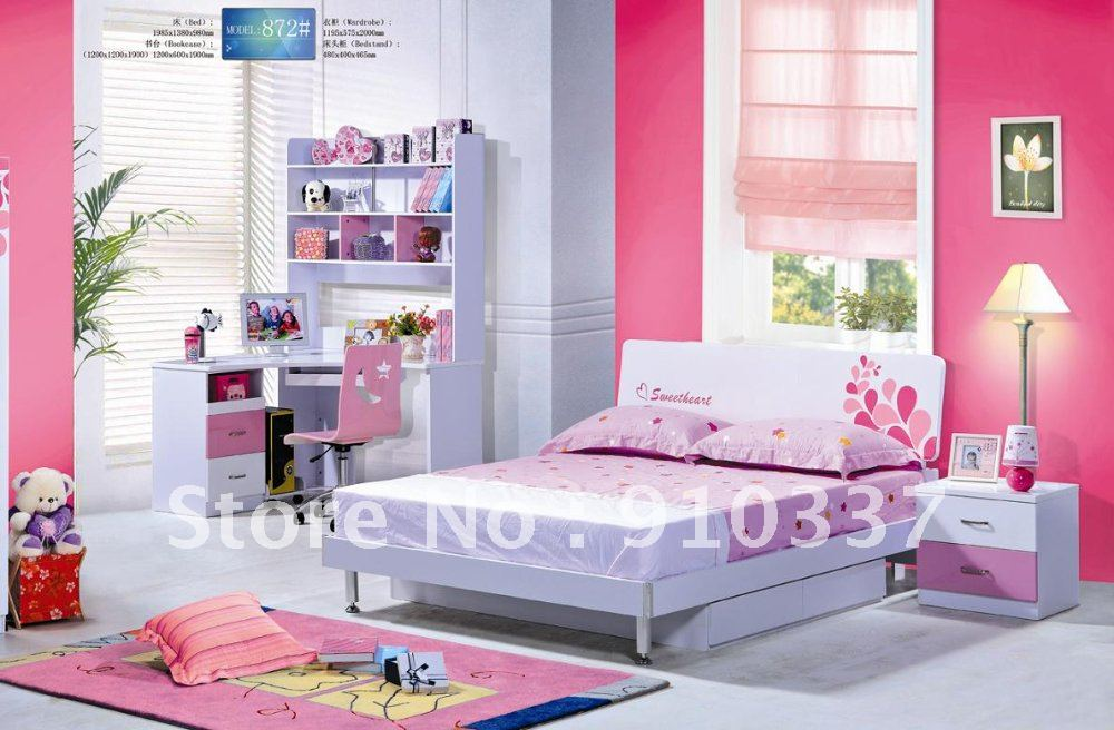 pcs new full size bedroom set mdf panels children furniture bookcase
