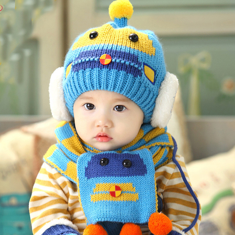 2015 Special Offer Newborn Crochet Outfits Photography Props Winter Baby Hat Scarf Children And Two Sets Of Cotton Hats Girls(China (Mainland))