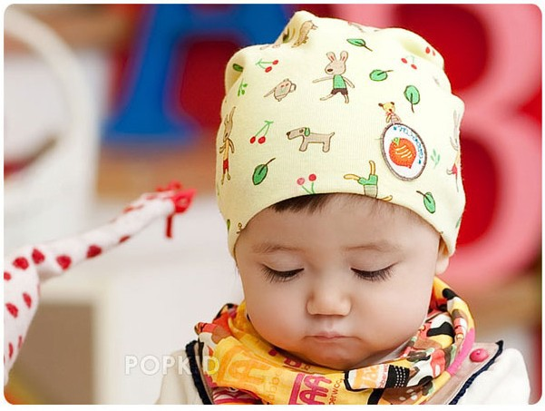 Free shipping ! Good Quality ! girls / boys baby Carrot labeling cartoon Hats Childrens/Kids cotton rabbit Caps 3 Colors Ratail(China (Mainland))