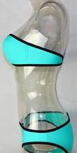 S L 5 Colors Zipper Push Up Padded Bra Swimwear Bikini Set Beachwear Swimsuit H2301