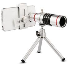 Buy Universal Kit Phone Camera Lenses Kit 18x Zoom Optical Telescope Telephoto Lens Tripod Samsung Xiaomi iphone 5 6 6s 7 for $27.89 in AliExpress store