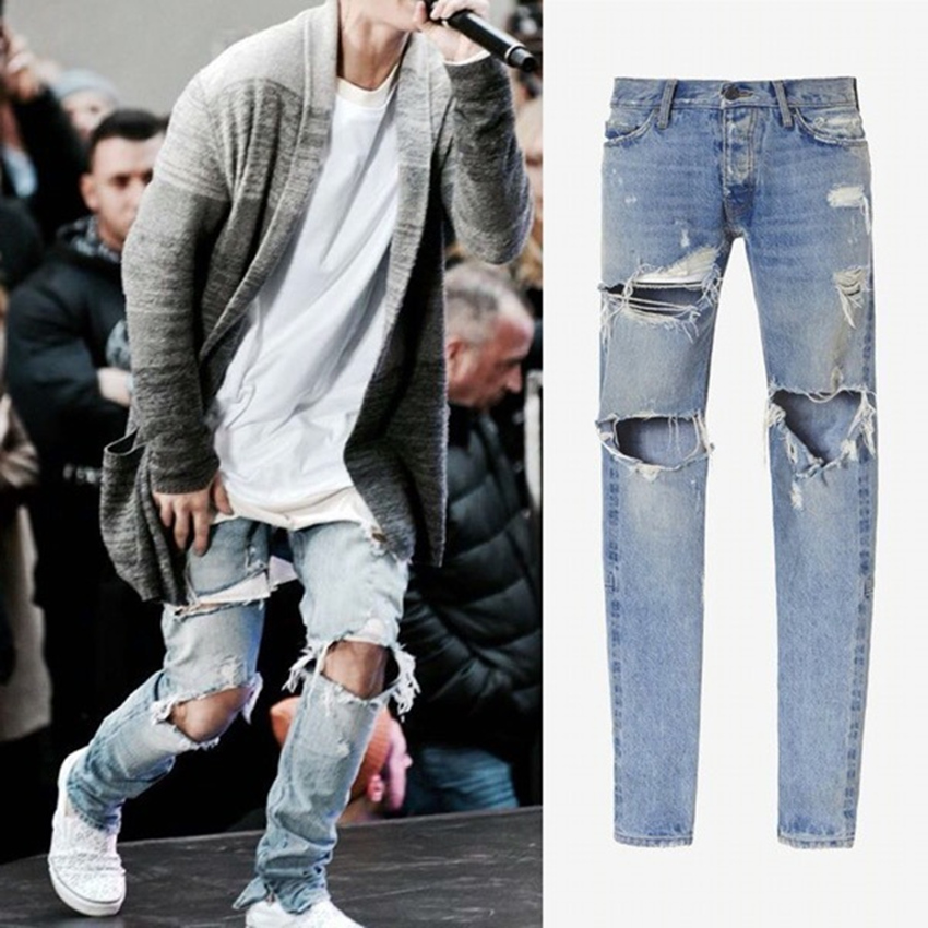 Popular Destroyed Ripped Jeans for Men-Buy Cheap Destroyed Ripped ...
